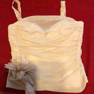 BCBG Rose corsage beautiful match with the skirt.